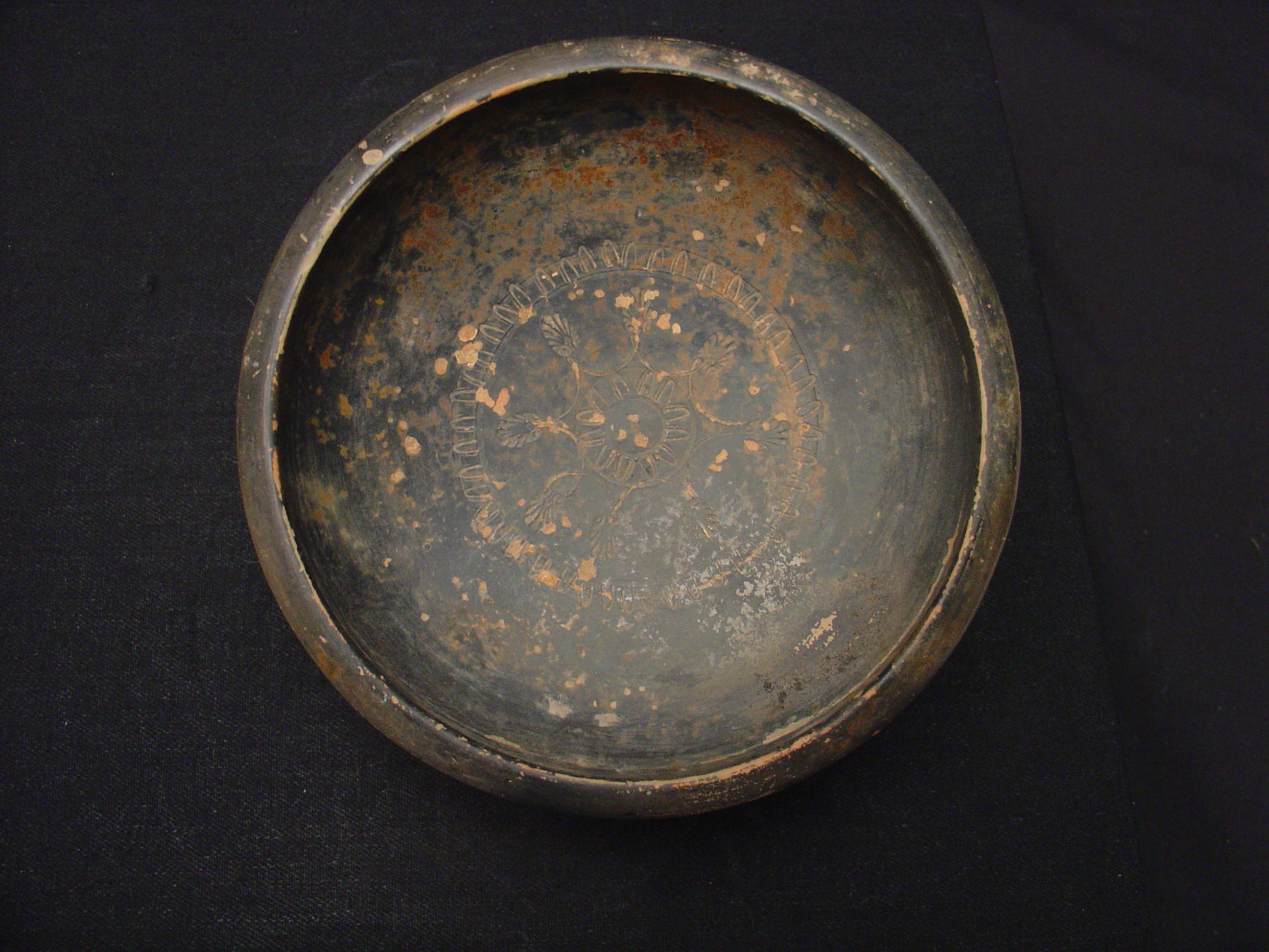 Attic Black Glaze Salt Cellar or Small Bowl , Search the Collection