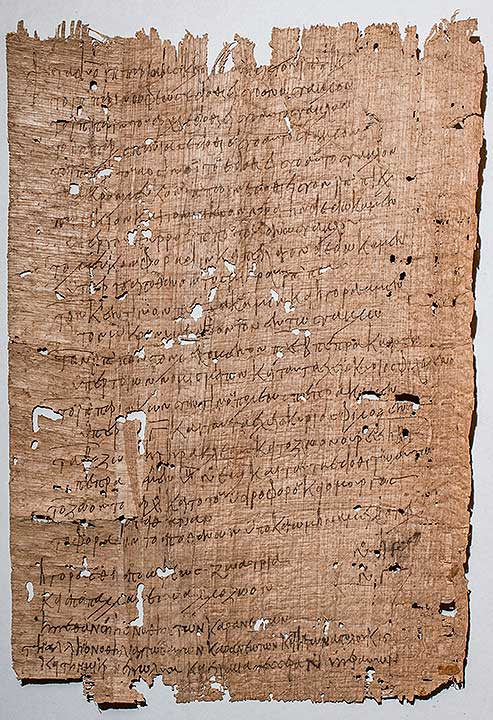 Photo of Oxyrhynchus Papyrus, P.Oxy VI 922: Import Bill-of-Sale (Fragment)