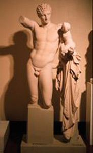 Photo of Plaster Cast Sculpture: Hermes and Infant Dionysos
