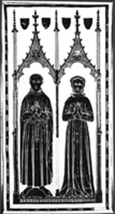 Photo of Brass Rubbing: William and Marion Grevel