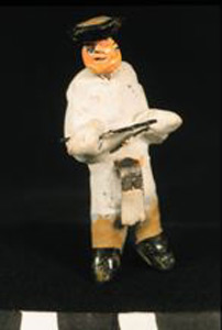 Photo of Model of Funerary Procession: Figurine, Drummer?