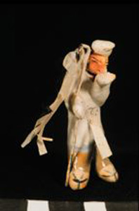 Photo of Model of Funerary Procession: Banner Carrier