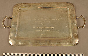 Thumbnail of Commemorative Tray Presented to Avery Brundage by Ing. Aaron Merino Fernandez, Mexico (1977.01.0007)