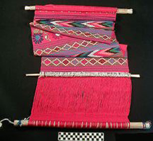 Thumbnail of Backstrap Loom with Textile (1900.26.0015)