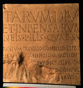 Photo of Plaster Cast: Res Gestae, Latin Inscription, Second Panel