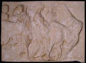 Thumbnail of Plaster Cast of South Parthenon Frieze Panel - Five Men and Two Cows (1911.03.0009)