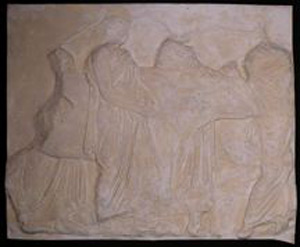 Thumbnail of Plaster Cast of South Parthenon Frieze Panel - Four Men and Two Cows (1911.03.0011)