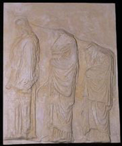 Thumbnail of Plaster Cast of East Parthenon Frieze Panel - Three Maidens Carrying Vessels (1911.03.0014)