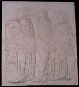 Thumbnail of Plaster Cast of East Parthenon Frieze Panel - Four Maidens Carrying Oinochoe (1911.03.0031)