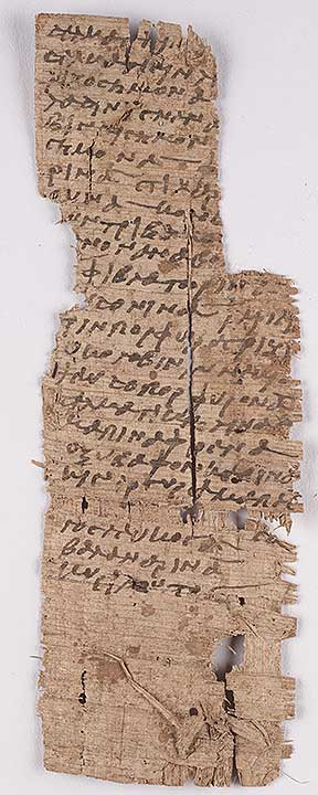 Thumbnail of Oxyrhynchus, Papyrus, P.Oxy VI 958: Vellum Tag (Fragment) (1914.21.0012)
