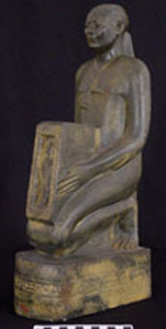 Thumbnail of Plaster Cast of Votive Figure: Priest Psamtik-Sa-Neith (1948.01.0019)
