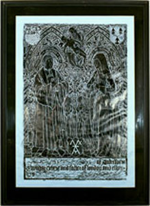 Photo of Brass Rubbing: Andrew Evyngar, Elyn and children