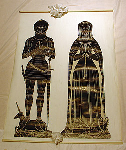 Photo of Brass Rubbing: Thomas Chaucer, Esq., and Maud
