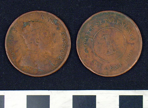 Photo of Straits Settlement Coin:  1 Cent