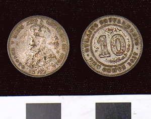 Photo of Straits Settlement Coin:  10 Cents