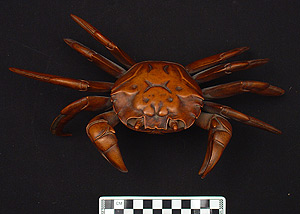Photo of Okimono: Heike-gani (Crab)