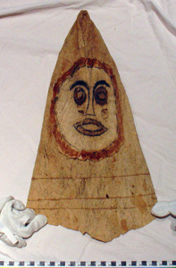 Thumbnail of Peleacon Bark Cloth Mask (2000.01.0979)