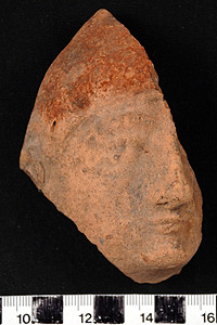 Thumbnail of Votive Figurine Fragment: Male Face (1926.02.0209)