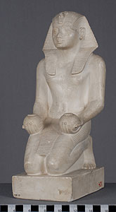 Photo of Plaster Cast of Statuette: Pharaoh Offering Two Jars to the Gods