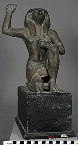 Thumbnail of Plaster Cast of Statuette: Horus the Sky God (1948.01.0045)