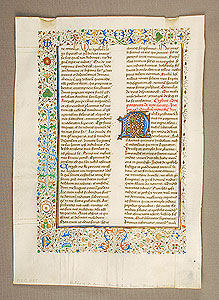 Photo of Illuminated Manuscript Page, Writing of Saint Jerome