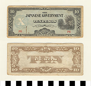 Photo of Bank Note: Japanese Government-Issued Philippine Occupation Fiat, 10 Pesos