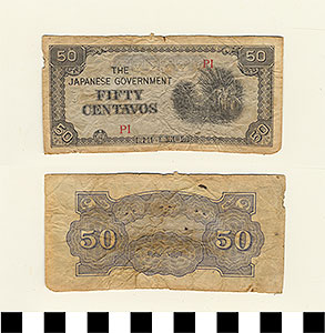 Photo of Bank Note: Japanese Government-Issued Philippine Occupation Fiat, 50 Centavos