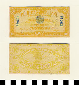 Photo of Philippine Commonwealth Government Manila Emergency Circulating Bank Note:  Ten Centavos