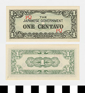 Thumbnail of Japanese Government-Issued Philippine Occupation Fiat Bank Note: 1 Centavo (1992.23.1612A)