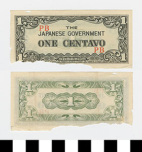 Thumbnail of Japanese Government-Issued Philippine Occupation Fiat Bank Note: 1 Centavo (1992.23.1612F)