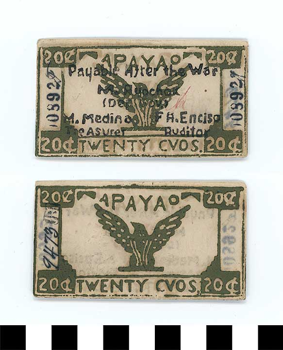 Photo of Philippine Commonwealth Government Apayao Emergency Circulating Bank Note: 20 Centavos