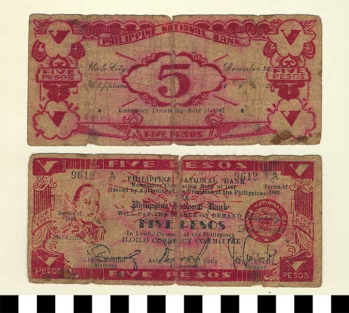 Photo of Philippine Commonwealth Government Iloilo Emergency Circulating Bank Note: 5 Pesos