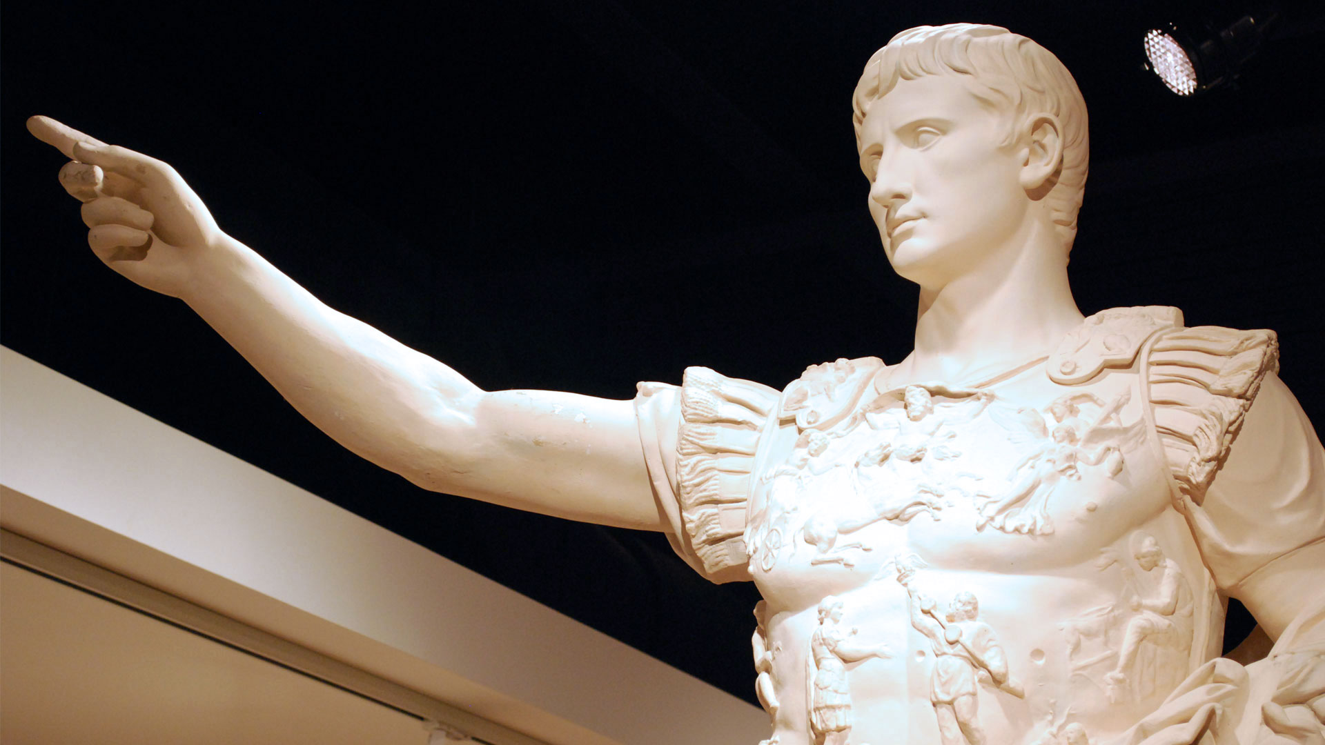 Augustus laying down the law