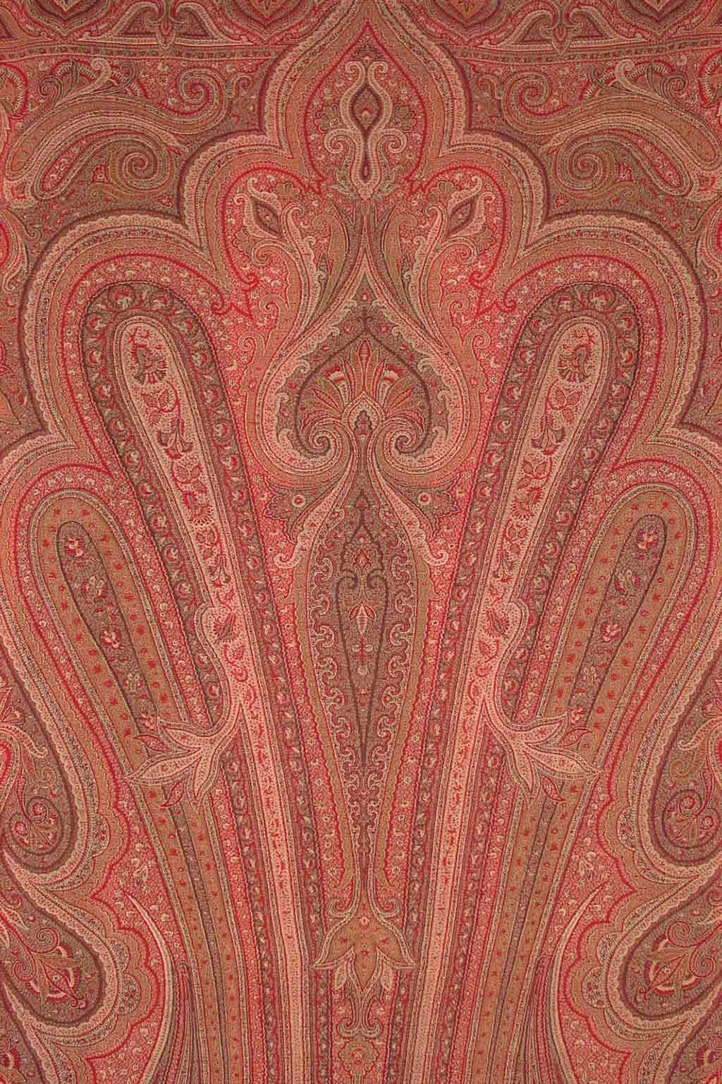 dull red intricate patterns