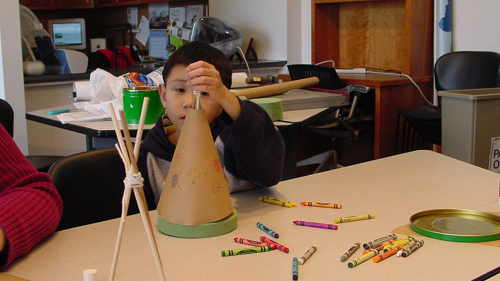Child with tipi project