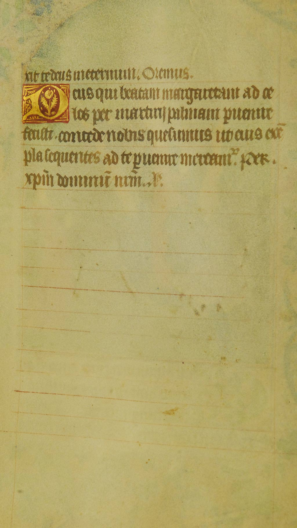 inside page of the manuscript, Latin