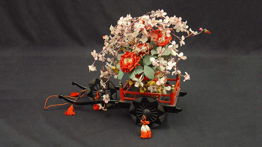 Featured Object: Hina Matsuri Miniature Flower Cart and Parts