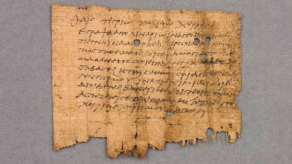 Featured Object: Oxyrhynchus Papyrus, No. 932: Letter, Thaius to Tigrius (Fragment)