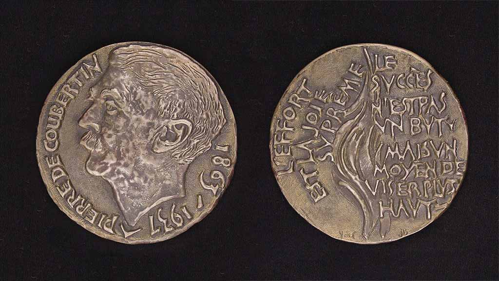 Featured Object: Commemorative Olympic Medallion: Pierre de Coubertin 1865–1937