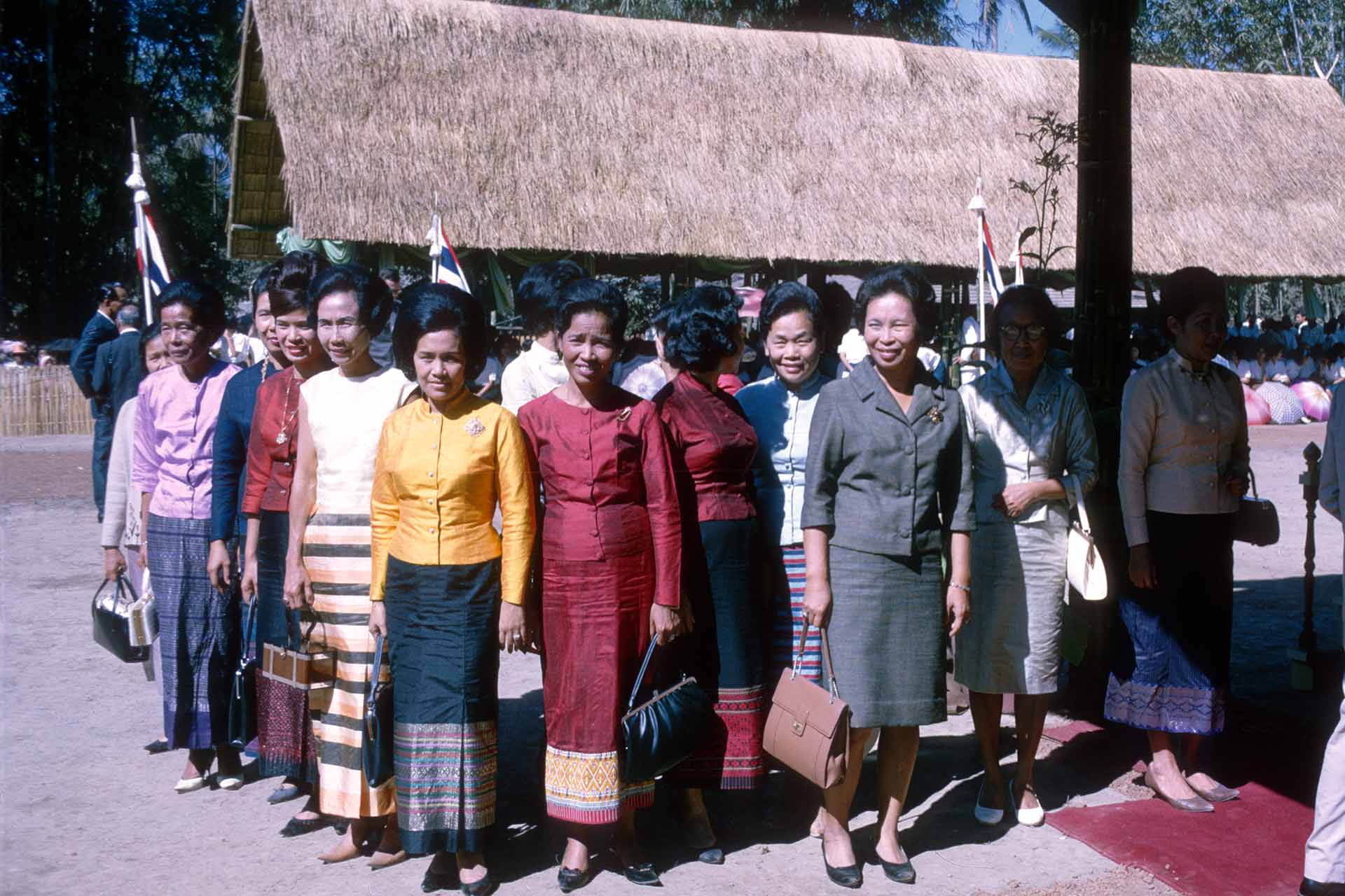 A group of Thai women dressed in formal western-type attire