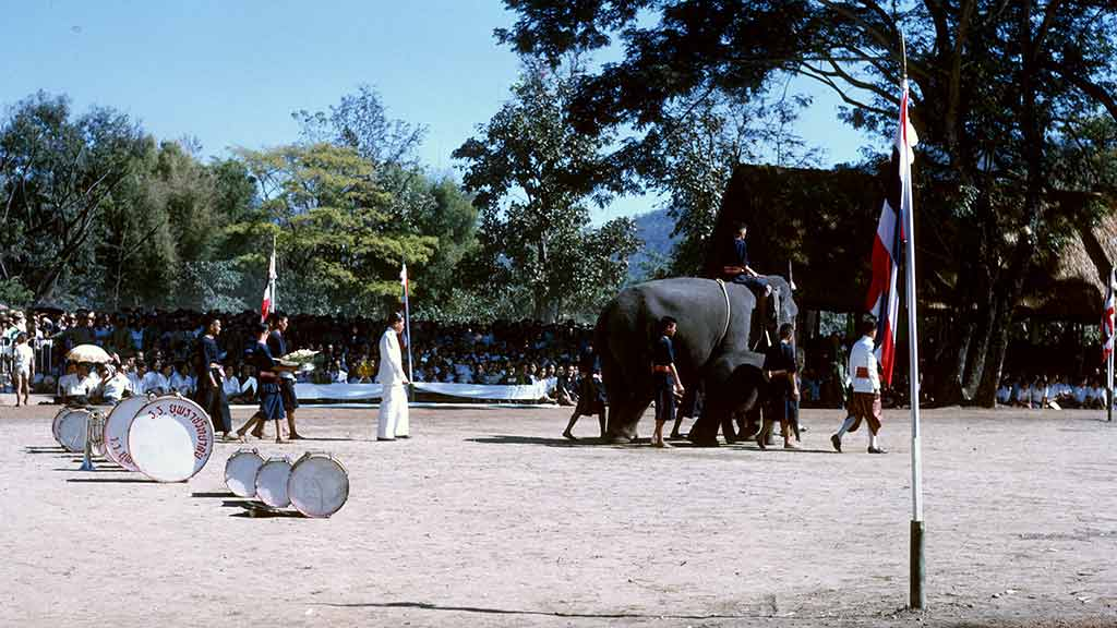 The presentation in Thailand of a white elephant to the late King H.M. Bhumibol Adulyadej