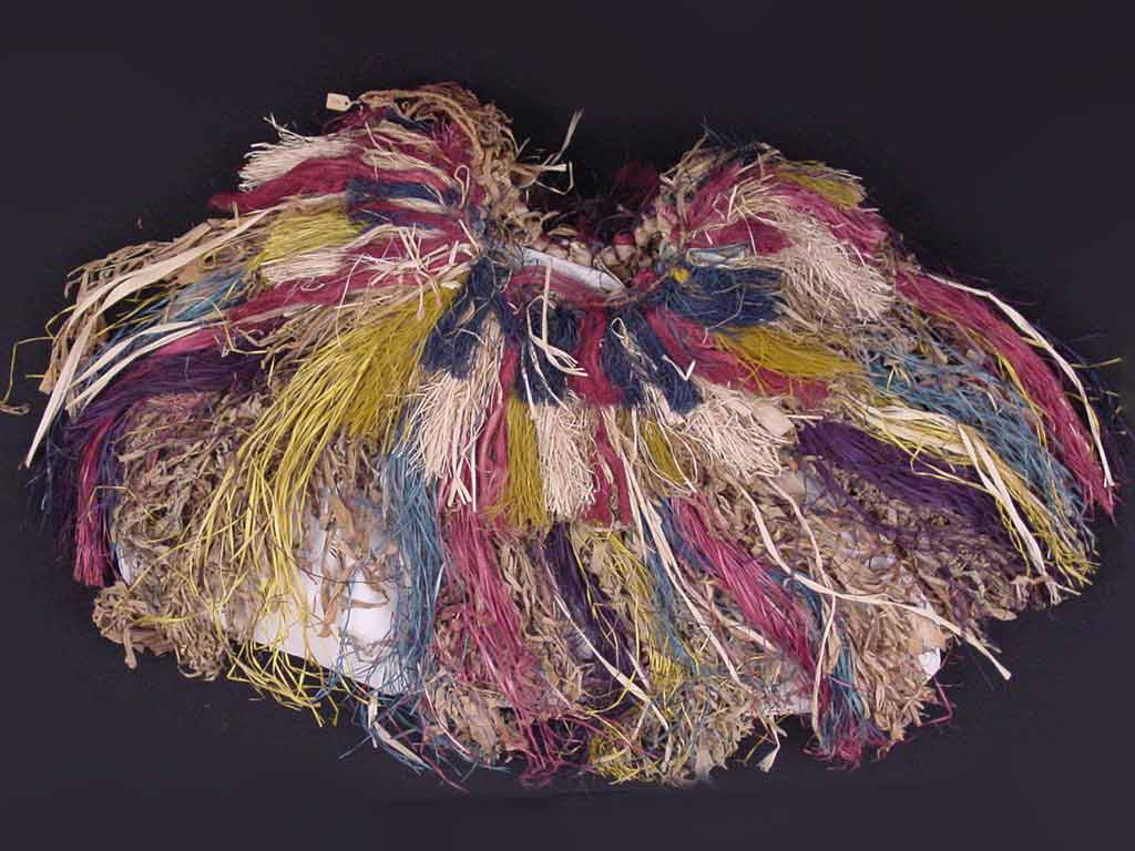 multicolored grass skirt