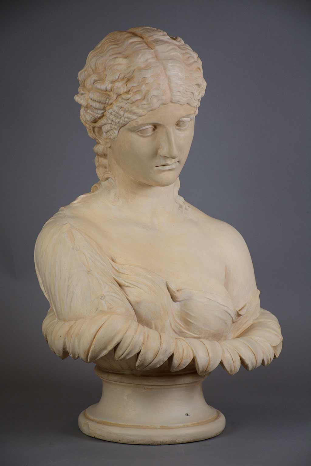 plaster cast of a woman