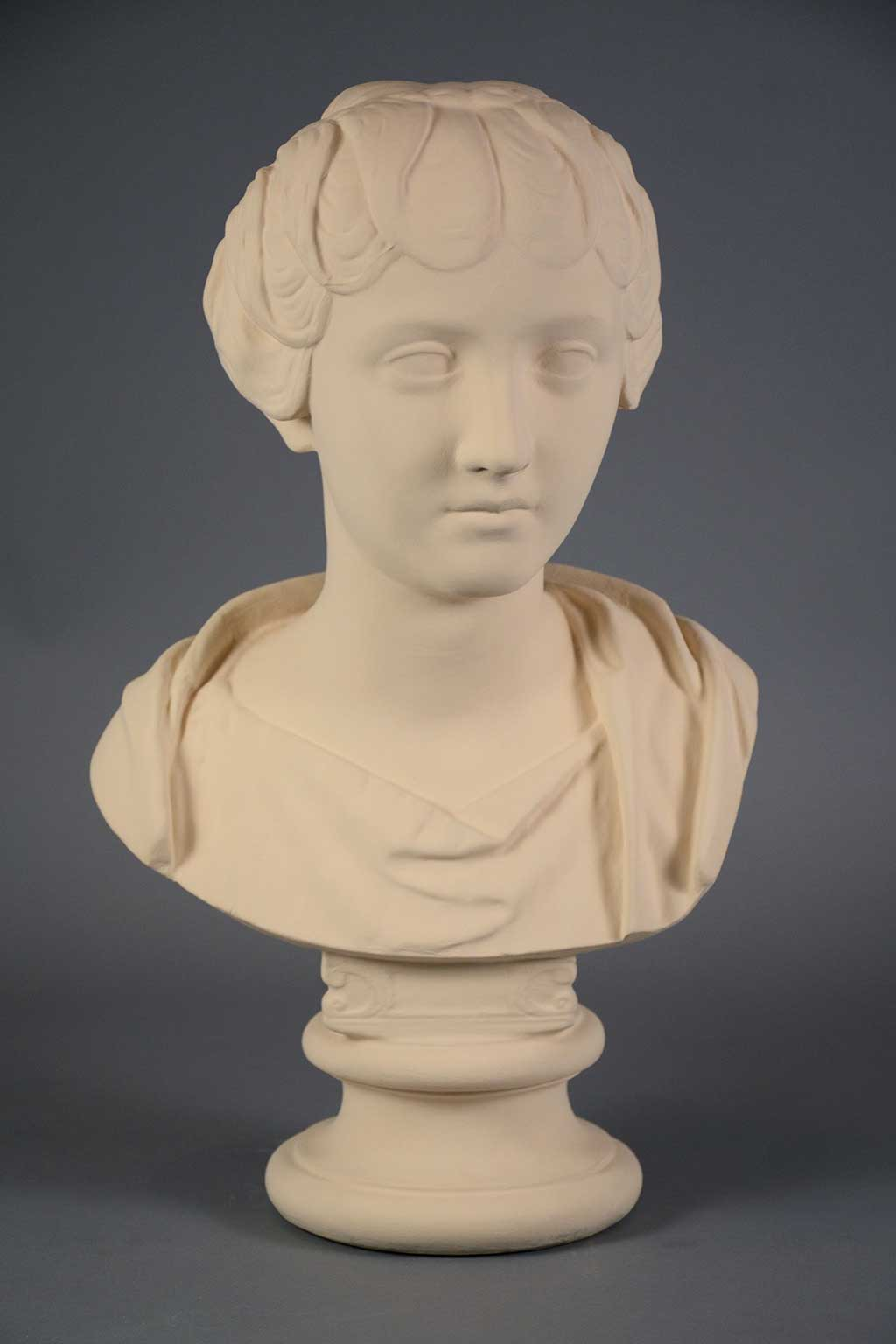 plaster cast of a young man