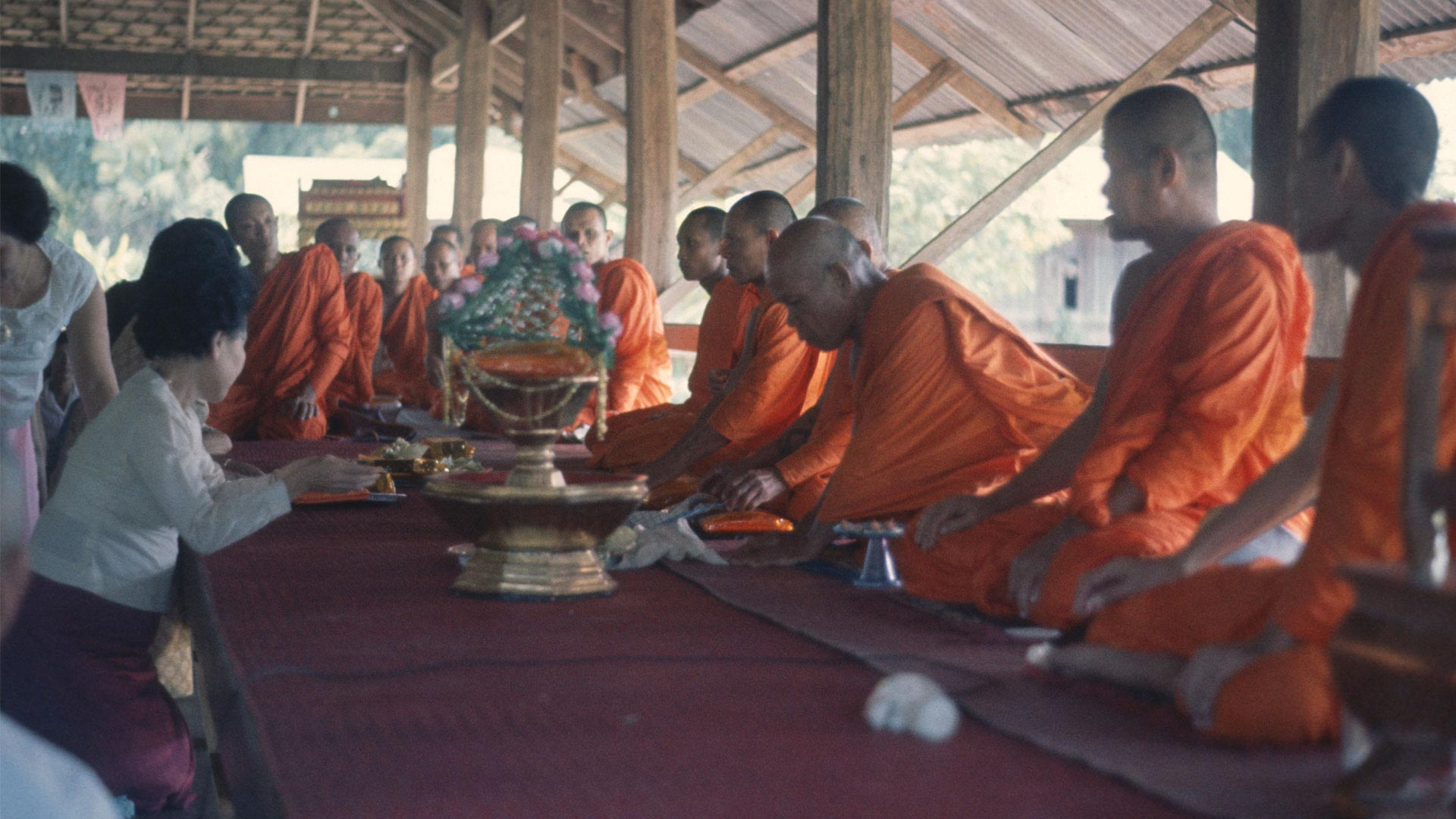 Thot Kathin: The ceremonial presentation of new robes and gifts to Buddhist monks in Thailand overview image
