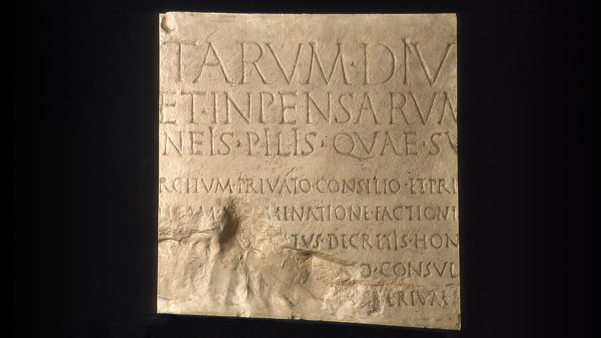 Featured Object: Plaster Cast of Roman Res Gestae, Latin Inscription, Second Panel overview image