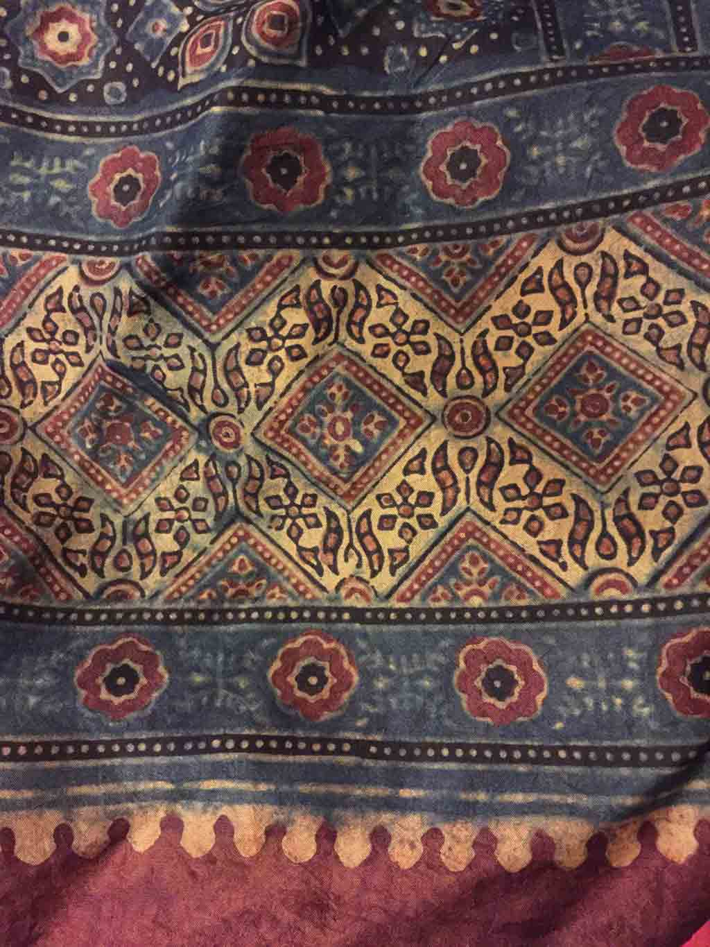 wide view of patterned rug