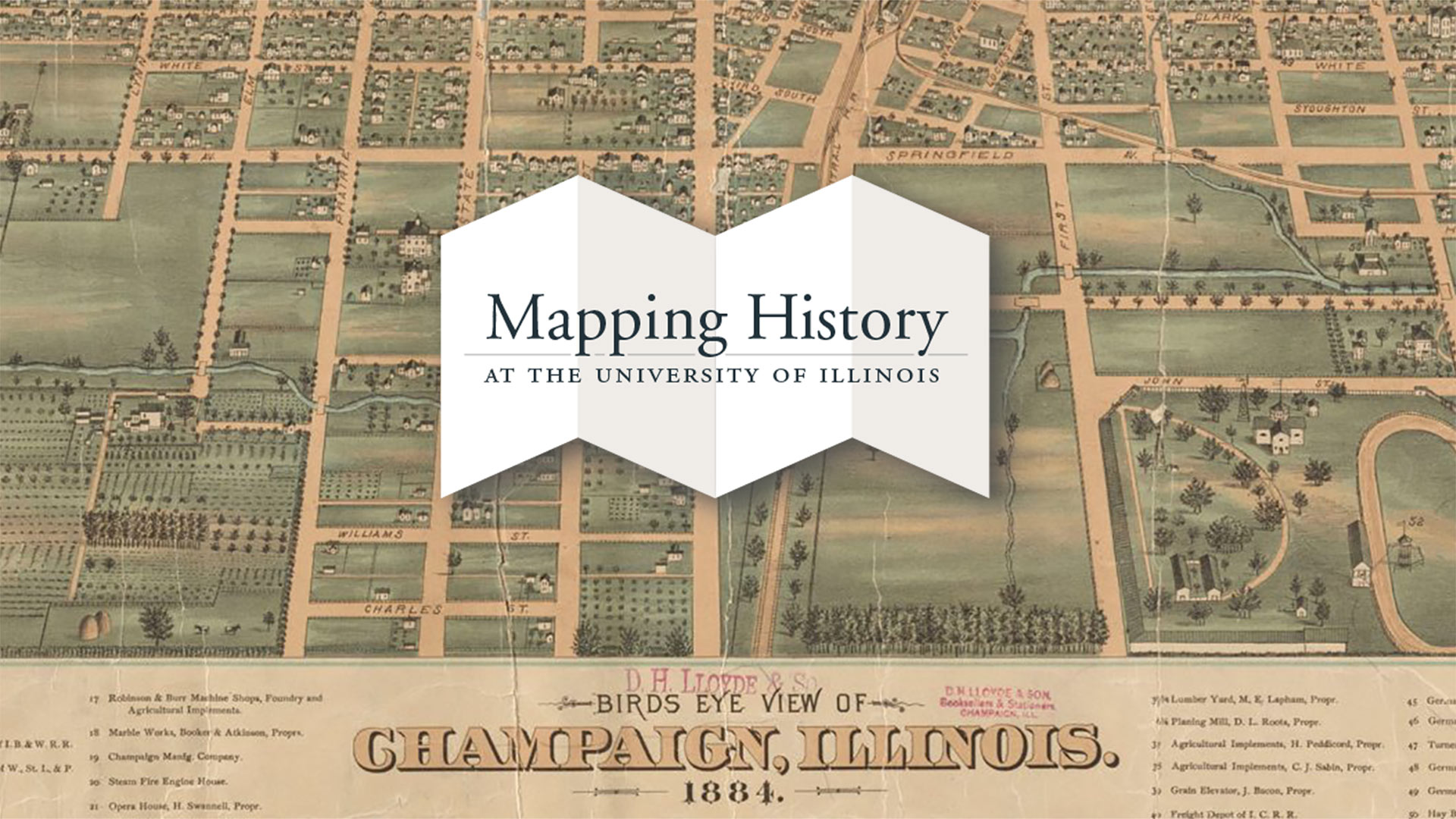 UI150: Campus & Champaign-Urbana Map Archives overview image