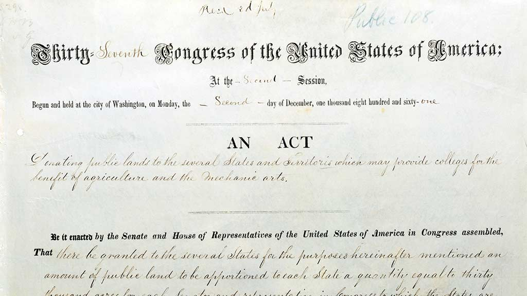 UI150: The Morrill Land Grant Act