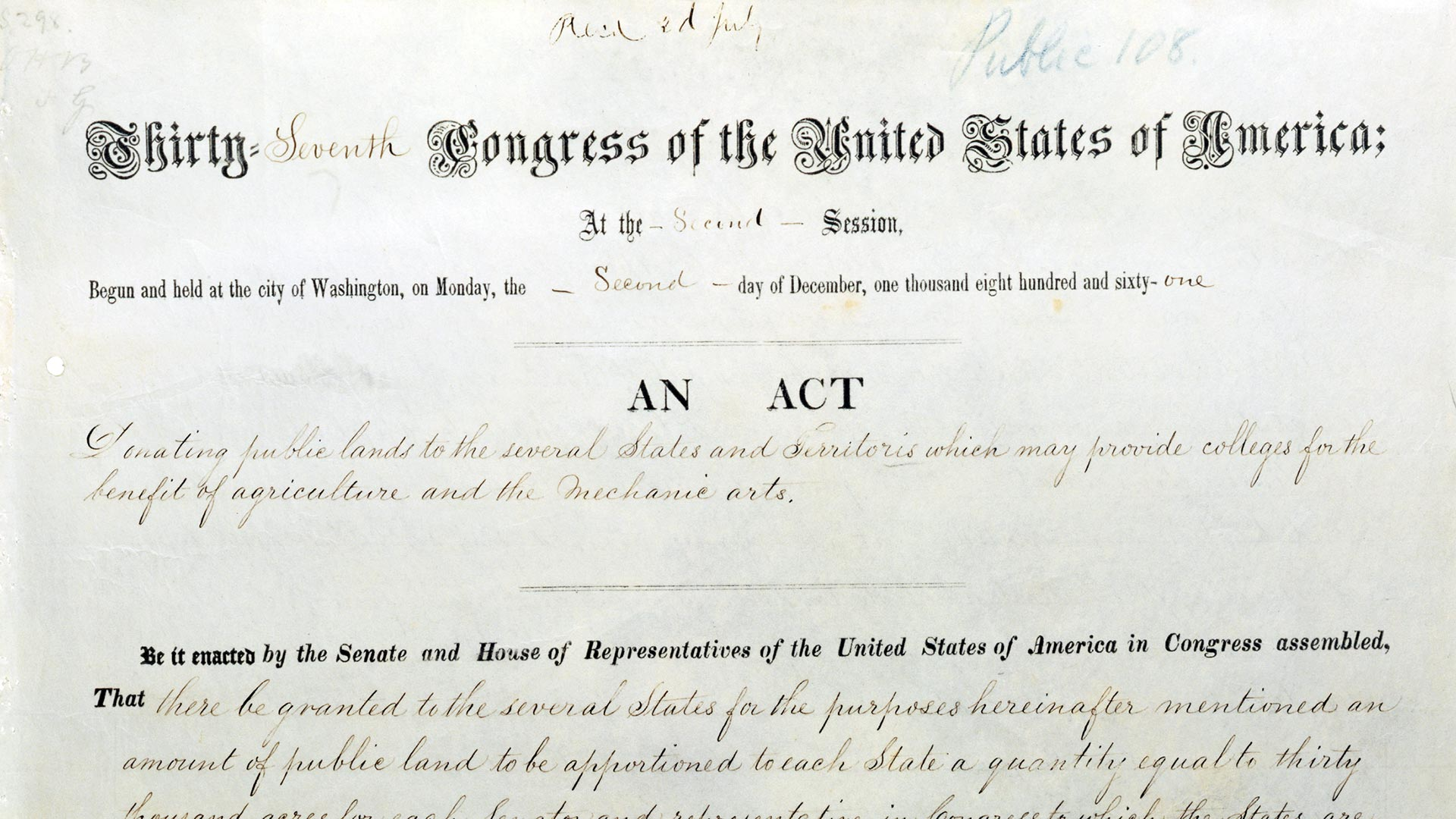 UI150: The Morrill Land Grant Act overview image